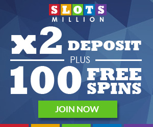 100% Welcome Bonus at SlotsMillion